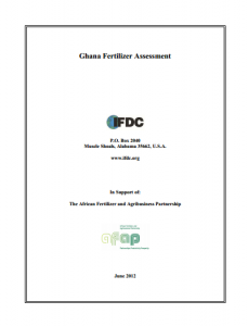 Ghana Fertilizer Assessment (IFDC for AFAP, June 2012)