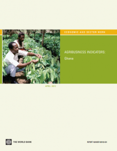 World Bank Agribusiness Indicators Ghana