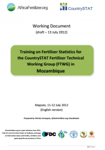 2012 AFO CS Mozambique - working document (Maputo 11-12 July 2012)