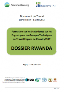 2012 AfricaFertilizer CountrySTAT Rwanda working document (July 2012)