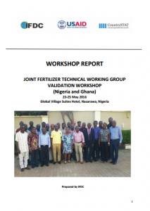 2016 AFO CountrySTAT FTWG Workshop Ghana Nigeria (Nasarawa, May 2016)