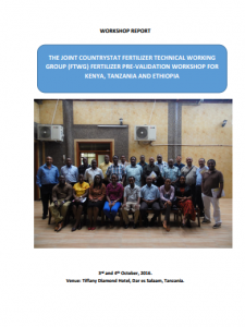 2016 Joint CountrySTAT KE_TZ_ET FTWG Workshop Report